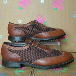 Allen Edmonds Double Eagle Leather Golf Shoes 10.5
